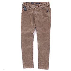 Silver Jeans Suki Mid Skinny Corduroy Pants Brown